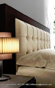 cabecero tapizado Sofa Design, Wood Bed Design, Furniture Design, Bedroom False Ceiling Design, Luxury Bedroom Design, Modern Bedroom, Diy Bett, Bedroom Cupboard Designs, Living Room Colors