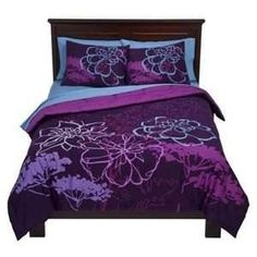 purple bedding by womanwise