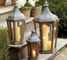 Lanterne natalizie - Lanterne con candele