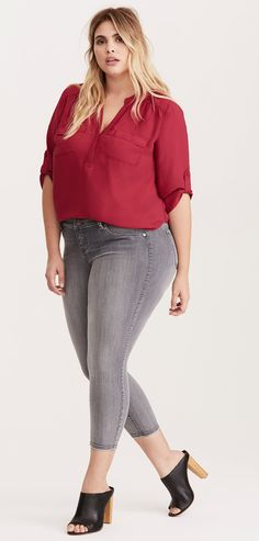 Plus Size Georgette Pullover Blouse
