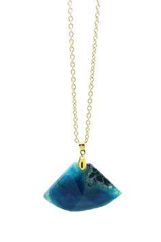 Feeling Blue Druzy Pendant Necklace by Eye Candy Los Angeles on @HauteLook