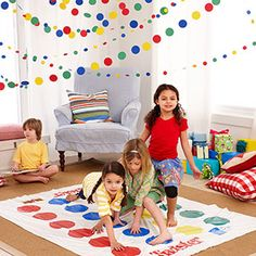 Game-Theme Birthday Parties: Twister, Soccer, and More!: Twister Party: Activity Idea (via Parents.com)
