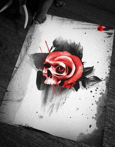 Realism tattoo on sketch (on paper) by Dmitriy Markovskiy