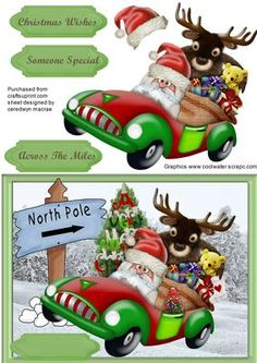 - A lovely card to make with Santa and Moose Delivering the Toys the Quick Way , has three greeting tags and a blank one for . Christmas Nativity Scene, Christmas Bird, Christmas Clipart, Christmas Paper, Christmas Printables, Christmas Crafts, Christmas Sheets, Christmas Picks, Christmas Cards To Make