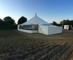 Roof extensions on these traditional vintage style pole tent/ marquees make such a difference whatever the occasion