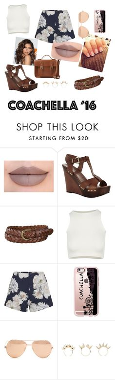 """""""Coachella"""" by theresa-t ❤ liked on Polyvore featuring Jeffree Star, Carvela Kurt Geiger, Uniqlo, Free People, Finders Keepers, Casetify, Linda Farrow, Joomi Lim, Coleman and The Cambridge Satchel Company"""