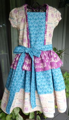 Little girls 3-tiered dress by EmelineDesign on Etsy