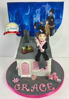 Mary Poppins cake by Love2bake- Oct 2020 Cake Business, Cake Makers, Novelty Cakes, Mary Poppins, Homemade Cakes, Plymouth, Birthday Cake, Baking, Desserts