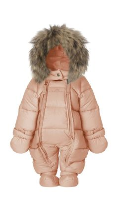 Feather. baby wintersuit w/fur