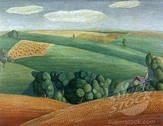 Grant Wood  Farm Landscape
