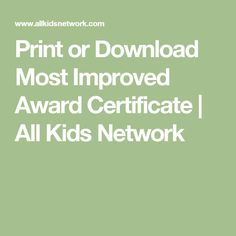 Award certificate templates overall most improved pinterest most improved award certificate for kids recognize a child for improving with this printable most improved certificate for all kids network yelopaper Images