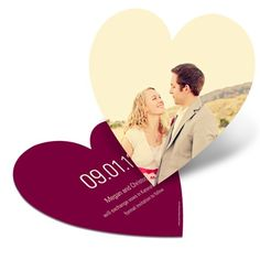 Heart shaped save the date