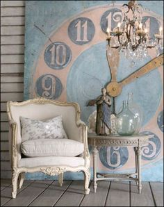 LOVE that clock wall art! so very alice!