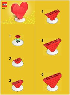 Easy LEGO Patterns | Instructions For LEGO 40004 LEGO Heart