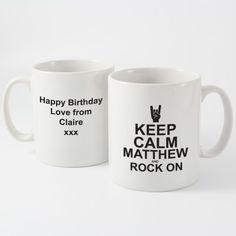 Keep Calm Rock On Mug | Mugs | Exclusively Personal
