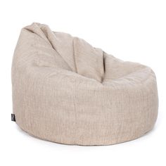 Luxury Chenille Chair Bean Bag - Straw