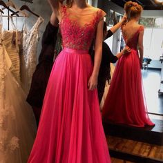 Cheap prom dresses Buy Quality prom dresses directly from China chiffon prom dress Suppliers: Hot Sexy Low Back Fuchsia Beaded Chiffon Prom Dresses 2016 Long Appliques A-line Elegant Prom Gowns Vestidos De Festa New Princess Prom Dresses, Prom Dresses 2016, Backless Prom Dresses, A Line Prom Dresses, Cheap Prom Dresses, Sexy Dresses, Evening Dresses, Dress Prom, Dresses Uk
