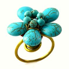 Make a statement with Inland Fashions flower power ring! $26
