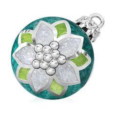 971feb96c Poinsettia Christmas Tree Ornament Luxe Color™ Enamel Bead Charm - Emerald  Green