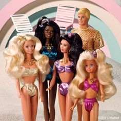 Summer squad goals! #TBT to Sun Sensations in 1992. #barbie #barbiestyle