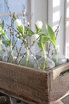 Flowers Watercolor Lily Of Flowers Drawings Rustic Flower Arrangements, Rustic Flowers, Buddha Flower, Vase Transparent, Vibeke Design, White Tulips, Inspired Homes, Silk Flowers, Spring Flowers