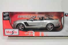 Maisto 2010 Roush 427R Ford Mustang Silver 1:18 Scale Die Cast Model Car NIB #Maisto #Ford