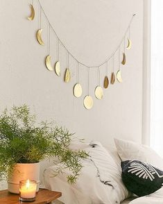 Home Decorating Ideas Hammered Extra-Long Metal Moon Cycle Banner My New Room, My Room, Dorm Room, Bedroom Decor, Wall Decor, Bedroom Ideas, Diy Home Decor, Sweet Home, Banner