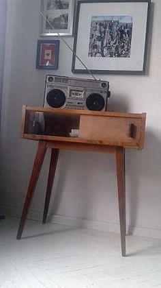 szafka pod radio ,konsola lata 50-60 vintage .CUDO. Wrocław - image 1