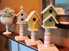 Terrie's Treasure's From Above: Spring Birdhouse Mantel