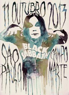 Black Sabbath Poster by Gabee Meyer, via Behance