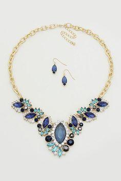 Gabriella Necklace in Sapphire on Emma Stine Limited