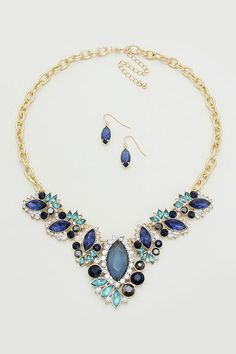 Gabriella Necklace in Sapphire on Emma Stine Limited