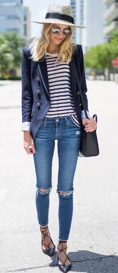 Fall Style: Gorgeous 44 Best Fall Style with Casual and Chic O… – Outfit Inspiration & Ideas for All Occasions Spring Summer Fashion, Spring Outfits, Autumn Fashion, Top Jeans, Skinny Jeans, Ripped Jeans, Outfit Online, Stylish Outfits, Fashion Outfits