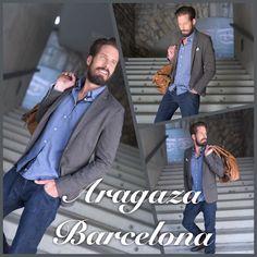 "Mode by Aragaza  ""you shirt made in barcelona""  by:   patrikzurlinden.com  Shirt: 79€ Blazer: 198€  Pants: 59€ (Pull&Bear)"