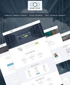 Website Template , Hostpro - Domain and Hosting HTML