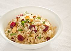Brown Rice Pilaf with Almonds and Cranberries - Click for Recipe