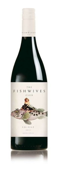 fishwives wine  | Empaques Creativos, Wine Labels, South Africa, Packaging Design ...