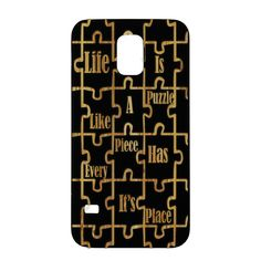 Life is A Puzzle…Quote. Black Wood Case