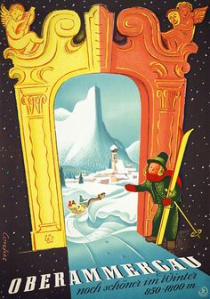 Oberammergau, noch schöner im Winter - 1955 - (Cordier) -
