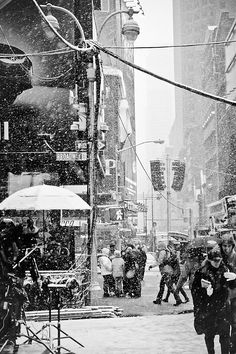 Frigid Times Square. #Chock will warm you up on days like this.