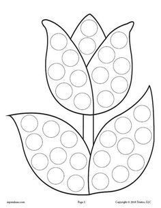FREE Tulip Flower Do-A-Dot Printable! Spring dot coloring pages like this are perfect for toddlers and preschoolers to practice fine motor skills and more! Get all 12 spring Do A Dot Printables for FREE here –> www.mpmschoolsupp… by kitanik Spring Coloring Pages, Bird Coloring Pages, Coloring Pages For Kids, Preschool Coloring Pages, Preschool Worksheets, Preschool Crafts, Kids Crafts, Toddler Crafts, Easy Crafts