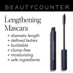 More than three years in the making, our breakthrough mascara delivers dramatic length and definition, plus the confidence of safer beauty:  www.beautycounter.com/patriciablack