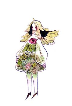 terrarium girl by koyamori.deviantart.com on @deviantART