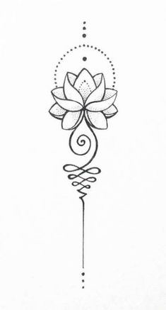 Unalome Lotus – – tattoo tatuagem – diy best tattoo images - tatoo feminina - New Ideas Spine Tattoos, Body Art Tattoos, Sleeve Tattoos, Tatoos, Yoga Tattoos, Thigh Tattoos, Unalome Tattoo, Unalome Symbol, Buddha Symbol Tattoo
