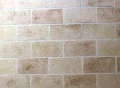 Faux concrete block.  Paint treatment for basement cement (cinder) block walls.