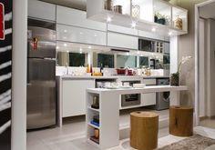 Cozinhas e lavanderias integradas sem divisórias - veja ideias para ambientes pequenos e apartamentos!