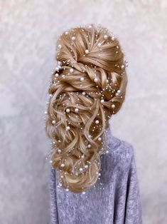 New Year's Eve Glam: Announcing the Party Pretty Winner - Style - Modern Salon Blonde Extensions, Clip In Extensions, Holiday Hairstyles, Wedding Hairstyles, Curled Hairstyles, Easy Hairstyles, Hair Donut, Natural Hair Styles, Short Hair Styles