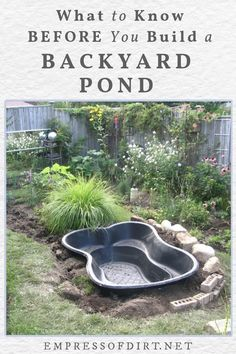 Small Backyard Ponds, Outdoor Ponds, Backyard Water Feature, Ponds For Small Gardens, Fish Pond Gardens, Small Ponds, Fish Garden, Small Fish Pond, Above Ground Garden