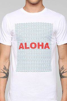 c3a57127b Altru Aloha Tee Information T Shirt Surf, Shark T Shirt, Aloha Tshirt, Cool
