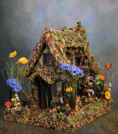 Partial Payment 3 of 5 Reserved: Fairy Dollhouse Oen's Refuge Magical Fairy Tale Fantasy Dollhouse Sculpture Reserved For Miss Josie